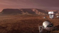 Artist's impression of Mars-manned-mission (NASA)