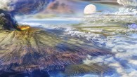 Artist's impression of early Earth (Hadeano)