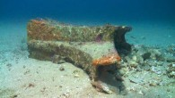 The rostrum f an ancient warship discovered near Sicily (Jeffrey G. Royal / RPM Nautical Foundation)