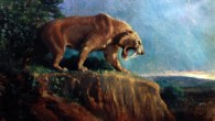 The saber-toothed cat Smilodon fatalis (Charles R. Knight)
