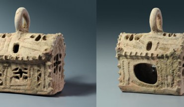 Ceramic model of a church unearthed near Ashkelon, Israel (Clara Amit / Israel Antiquities Authority)