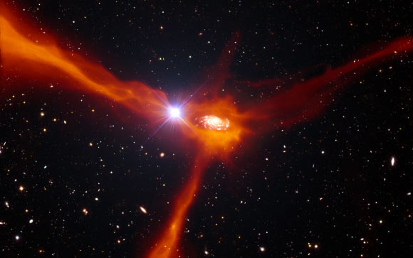 Distant Quasar Helps Catch Star-Forming Galaxy in Act of Feeding | Astronomy | Sci