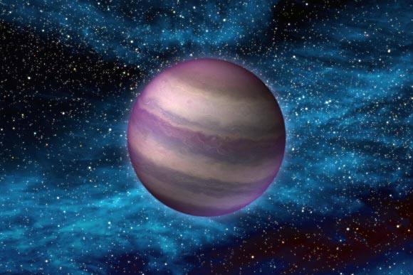 This is an artist's impression of a free-floating Y-dwarf. Image credit: NASA / JPL-Caltech.