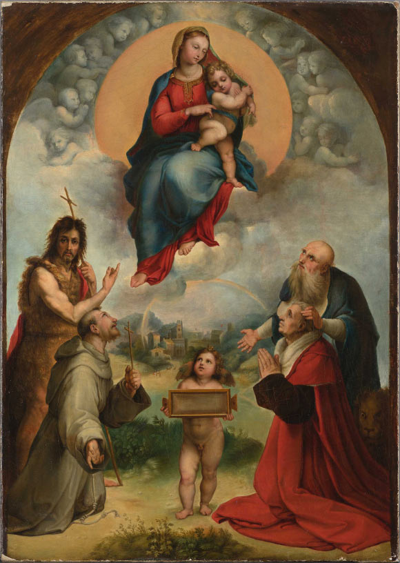 small madonna of foligno previously unknown painting by