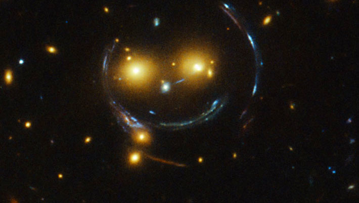 NASA's Hubble Space Telescope Captures Smiling Galaxy ...