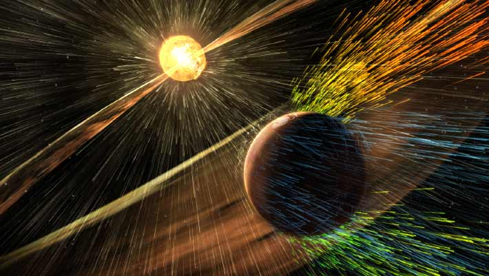 NASA's MAVEN Team: Solar Storms Stripped Away Mars' Atmosphere | Space Exploration | Sci