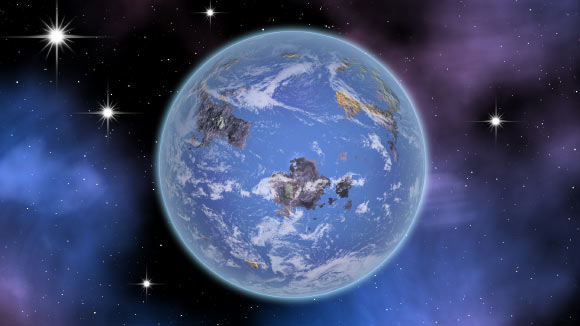 An artist's impression of a water-world exoplanet. Image credit: Sci-News.com.