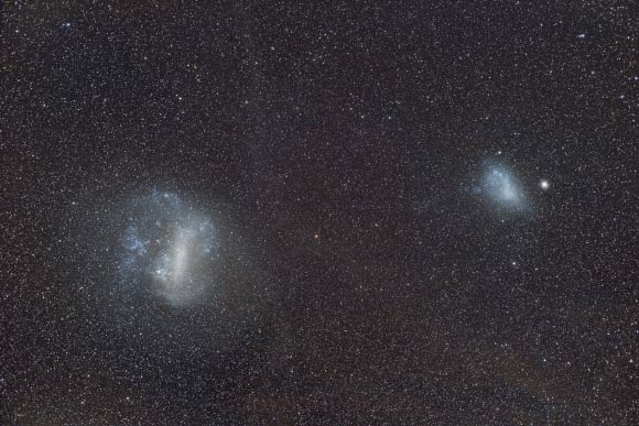 large and small magellanic clouds once had third companion