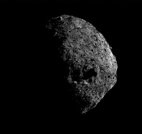 This image of asteroid Bennu was captured on January 17, 2019, from a distance of one mile. Image credit: NASA / Goddard / University of Arizona / Lockheed Martin.