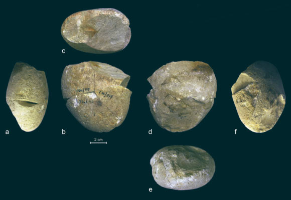 The 357,000-year-old abrading tool from Tabun Cave, Mount Carmel, Israel, viewed from various angles. Image credit: Shimelmitz et al., doi: 10.1016/j.jhevol.2020.102909.