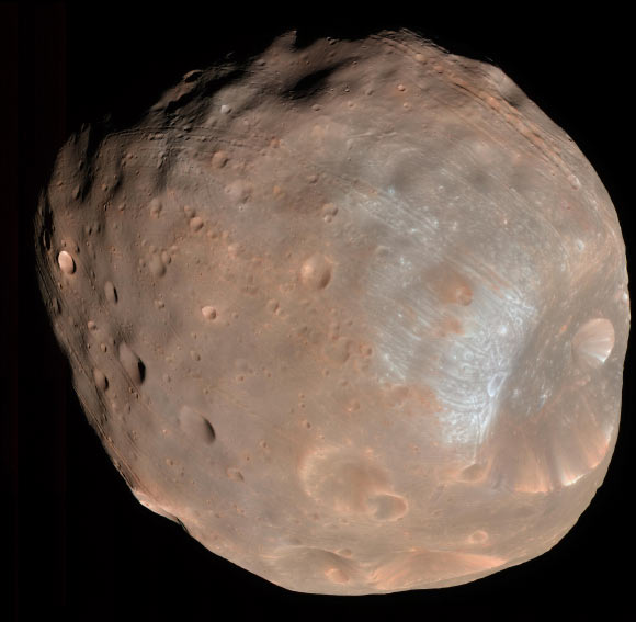 Phobos May Contain Atmospheric Atoms from Ancient Mars thumbnail
