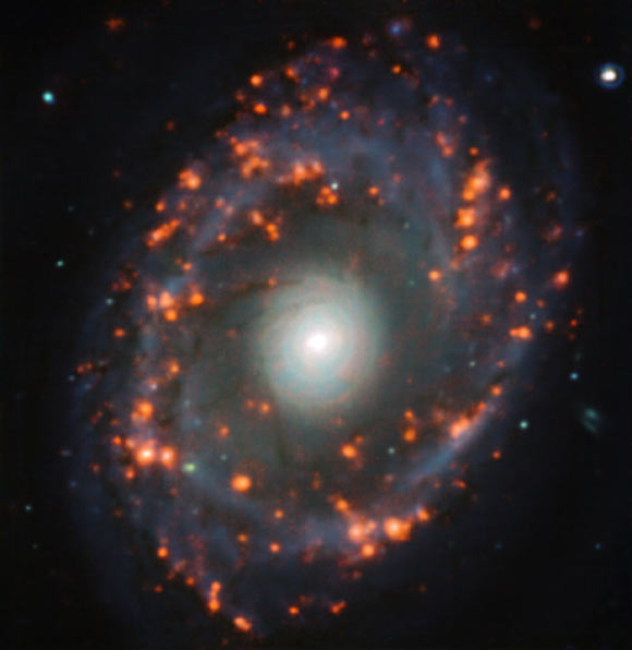 This image, taken with the MUSE instrument on ESO's Very Large Telescope, shows the spiral galaxy NGC 6902. Image credit: TIMER Survey / ESO.