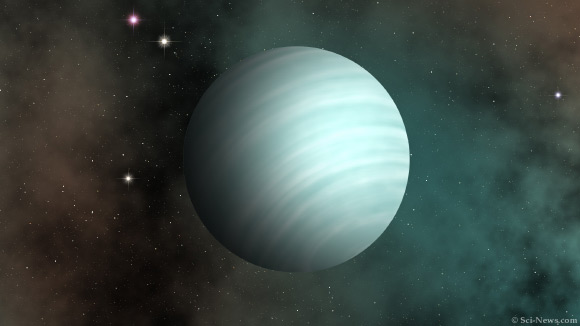 An artist's impression of the ultra-short-period sub-Neptune exoplanet TOI-1634b. Image credit: Sci-News.com.