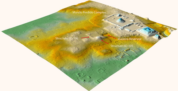 LiDAR view of the Teotihuacan Complex at Tikal, Guatemala. Image credit: T. Garrison / PACUNAM.