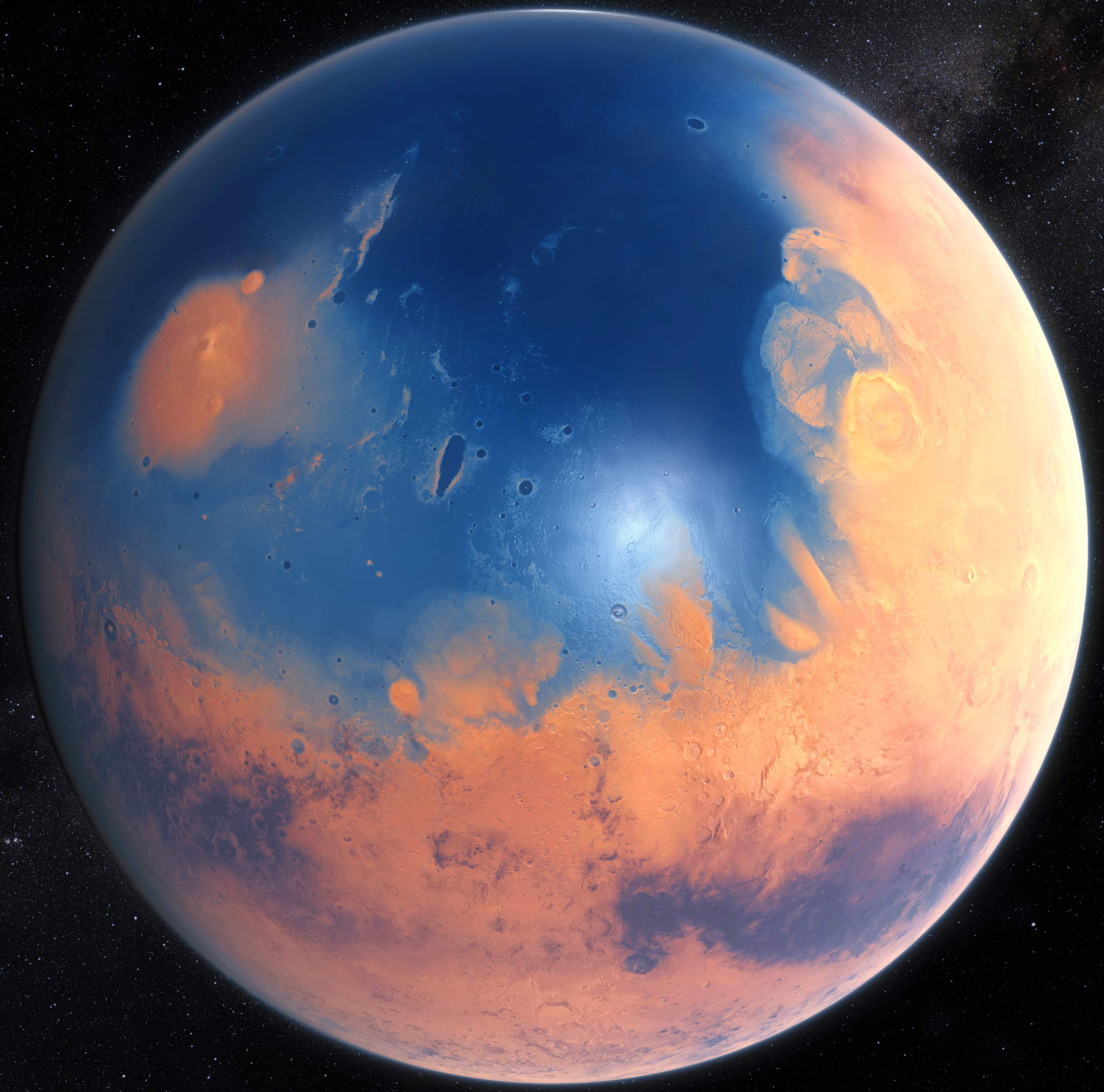 Mega-Tsunamis Resurfaced Shorelines of Early Mars' Ocean ...