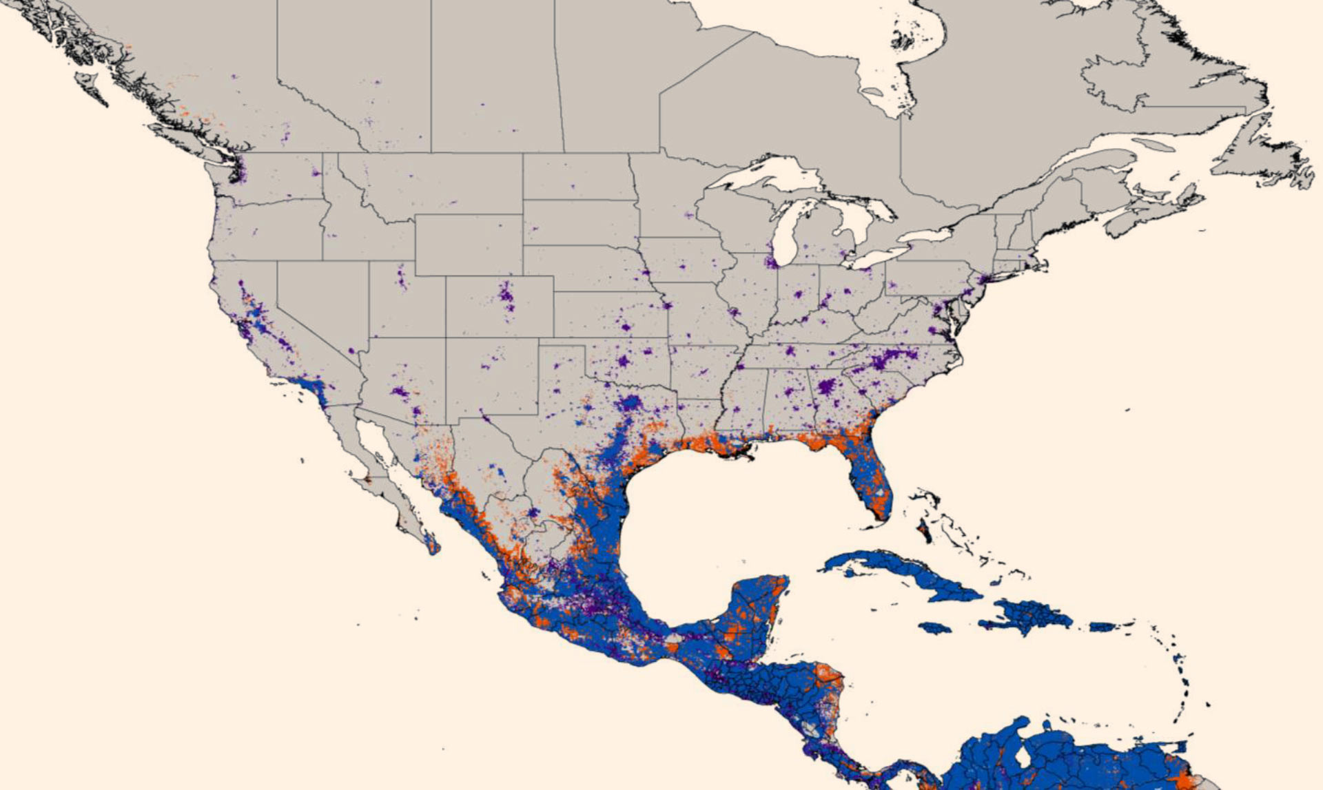 New Map Predicts Spread Of Zika Virus Medicine SciNewscom - Map of southern us