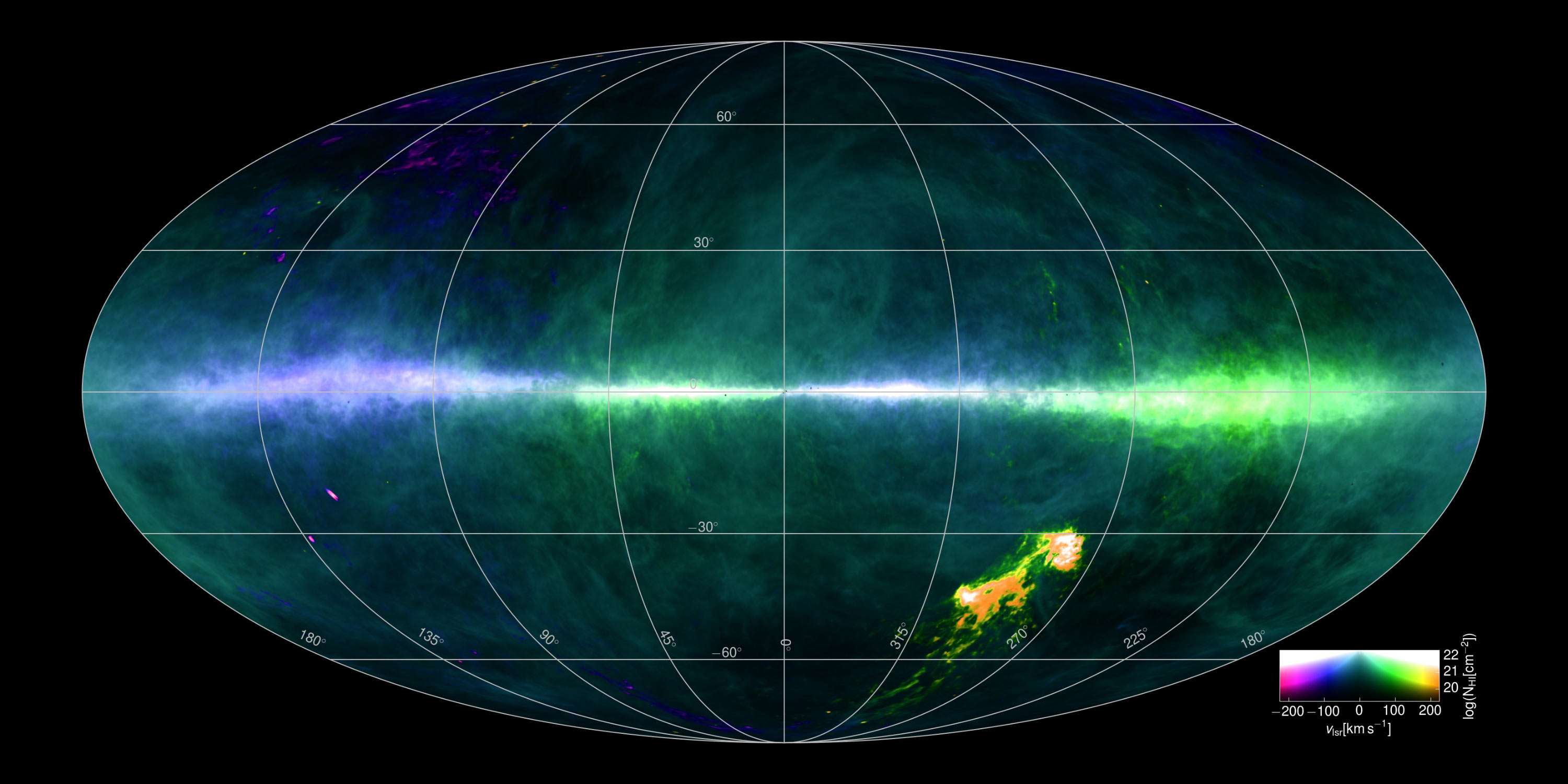 Astronomers Create Detailed Hydrogen Map Of Milky Way Galaxy Astronomy Sci News Com