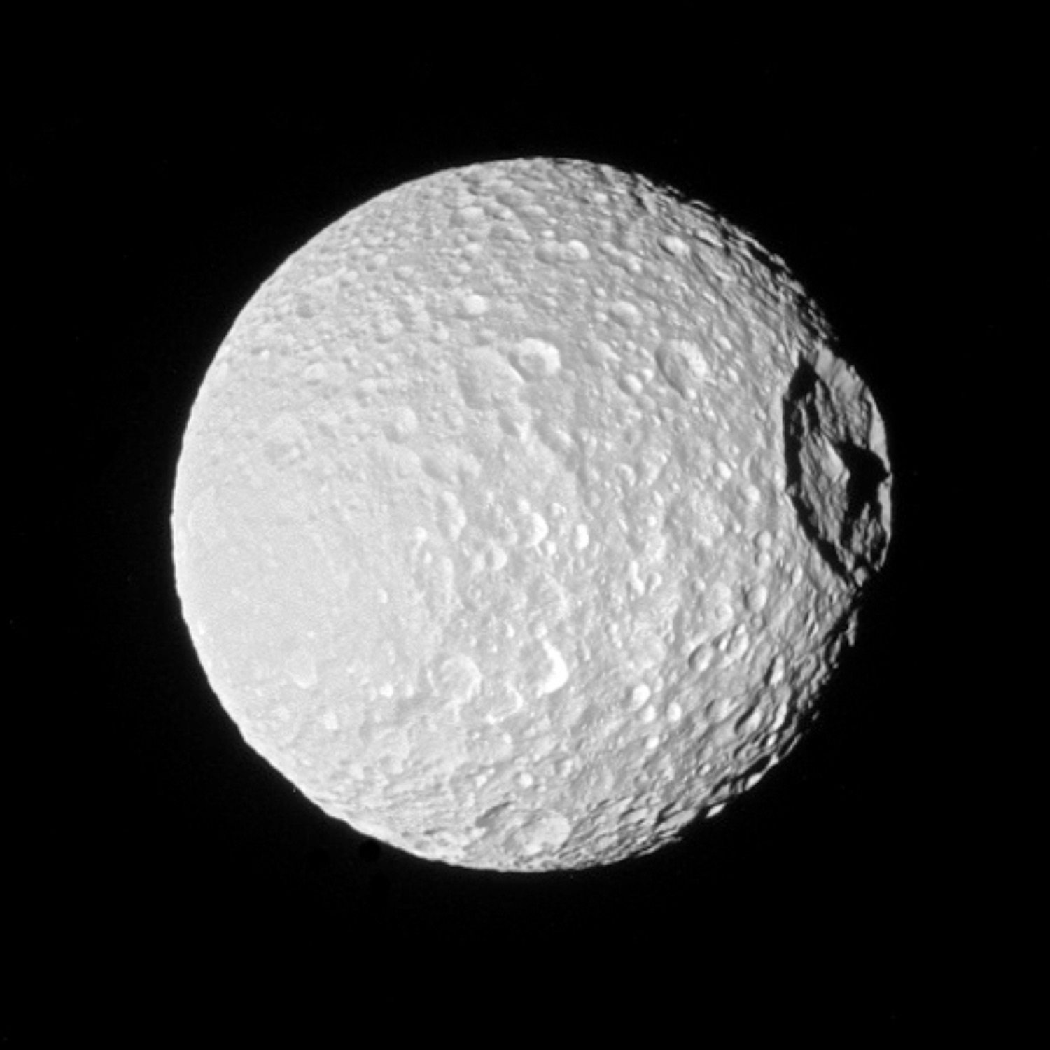 Cassini Captures Breathtaking View Of Saturn S Moon Mimas