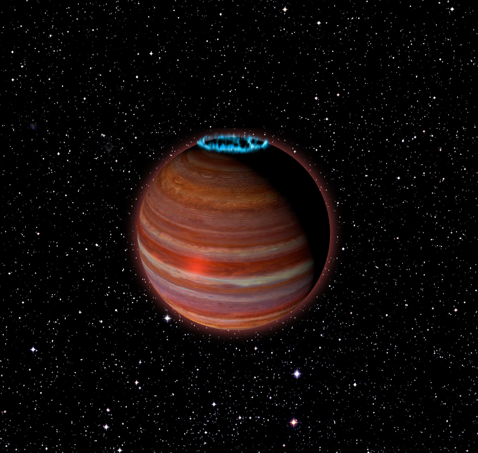 Huge Planet's Aurora 200 Times as Strong as Jupiter's