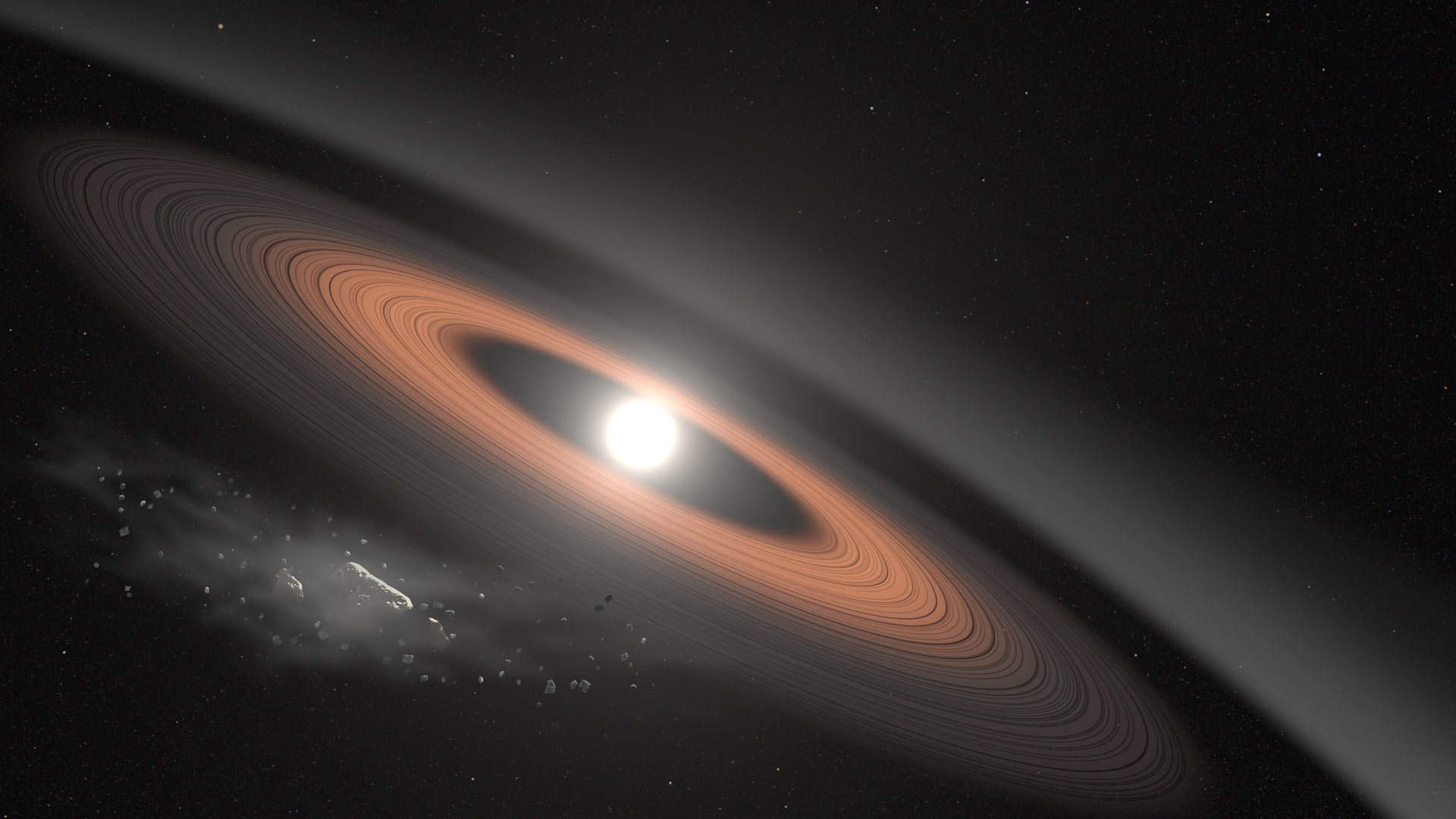 Citizen scientist finds ancient white dwarf star with enigmatic dust rings