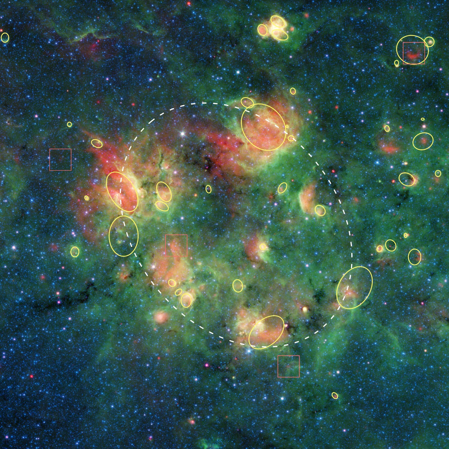 NASA's Spitzer Spots Vibrant 'Cosmic Bubble Bath' in Milky Way