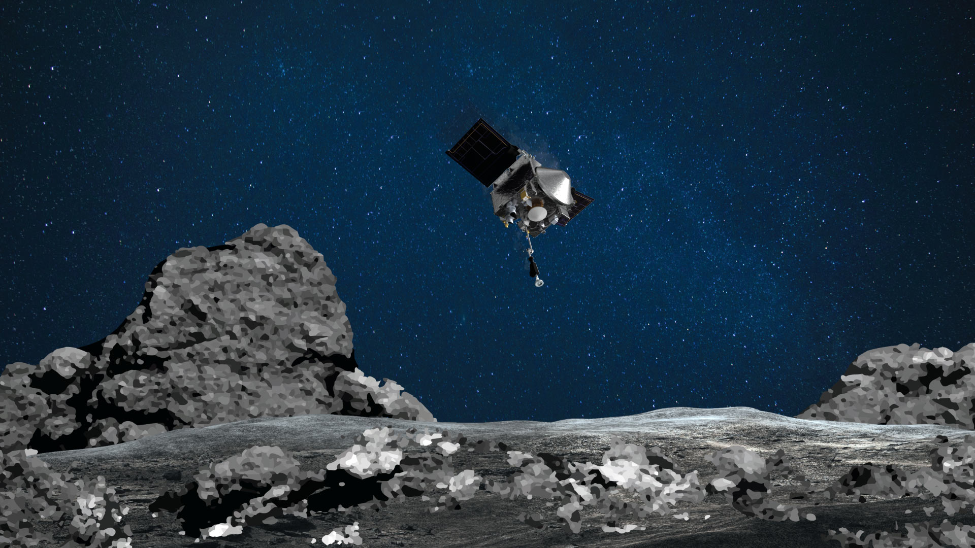 NASA spacecraft grabs sample of rocks from asteroid